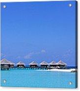 Beach Cabanas, Baros, Maldives Acrylic Print