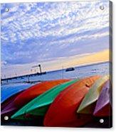Beach Canoe Acrylic Print