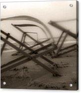 Beach Chairs Profile Acrylic Print