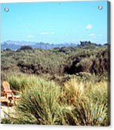 Beach Chairs With A View Acrylic Print
