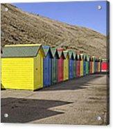 Beach Chalets - Whitby Acrylic Print