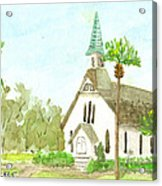 Beach Church Acrylic Print