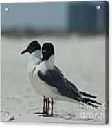 Beach Couple Acrylic Print