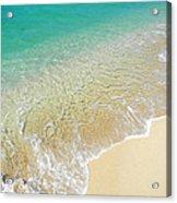 Golden Sand Beach Acrylic Print