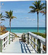Beach Entrance, Florida Acrylic Print