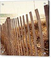 Beach Fencing Acrylic Print