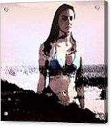 Beach Girl Remembered Acrylic Print
