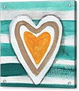 Beach Glass Hearts Acrylic Print