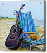 Beach Guitar Acrylic Print