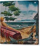 Beach Hideaway Acrylic Print