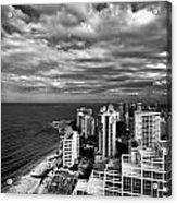 Beach Hotels San Juan Puerto Rico Acrylic Print by Amy Cicconi