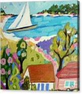 Beach House Island Acrylic Print