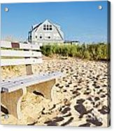 Beach House Sunrise Acrylic Print