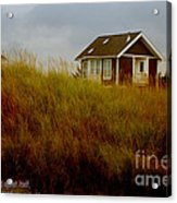 Beach House W Scripture Acrylic Print