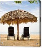 Beach Hut For Two Acrylic Print