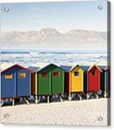 Beach Huts At Muizenberg Acrylic Print