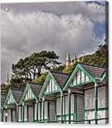 Beach Huts Langland Bay Swansea 3 Acrylic Print