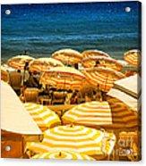 Beach In Cannes  Acrylic Print by Elena Elisseeva