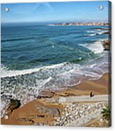 Beach In Resort Town Of Estoril Acrylic Print