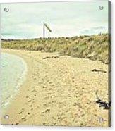 Beach In Scotland Acrylic Print