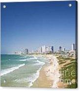 Beach In Tel Aviv Israel Acrylic Print