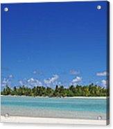 Beach Island In Aitutaki Acrylic Print