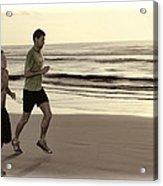 Beach Joggers Acrylic Print