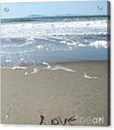 Beach Love Acrylic Print by Linda Woods
