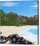 Beach On Helicopter Island Acrylic Print