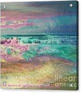 Beach  Overcast Acrylic Print