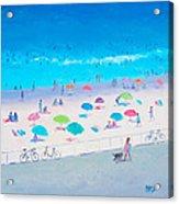 Beach Painting - Happy Days Acrylic Print