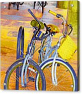 Beach Parking For Bikes Acrylic Print