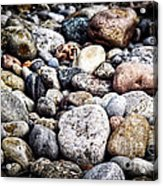Pebbles On Beach Acrylic Print