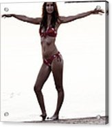 Beach Pose Acrylic Print