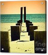 Beach Pylons Acrylic Print
