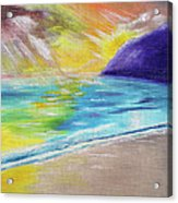 Beach Reflection Acrylic Print