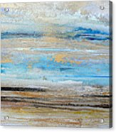Beach Rhythms And  Textures Northumberland 1a Acrylic Print
