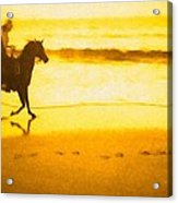 Beach Rider Acrylic Print