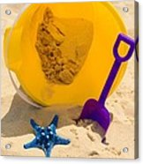 Beach Sand Pail And Shovel Acrylic Print