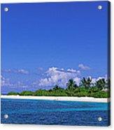 Beach Scene Maldives Acrylic Print
