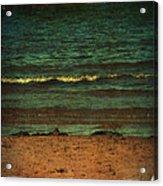 Beach Scene Ocean Waterfront Photograph Print Acrylic Print by Laura Carter