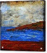 Beach Scene Painting Fine Art Print Acrylic Print