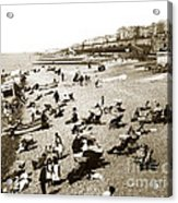 Beach Sean France  Circa 1900 Acrylic Print