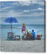 Beach Sellers Acrylic Print