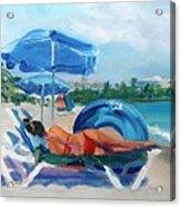 Beach Siesta Acrylic Print