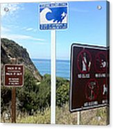 Beach Signs San Clemente Acrylic Print