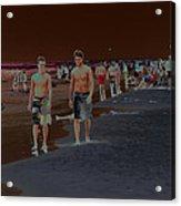 Beach Solar Series Vii Usa Acrylic Print