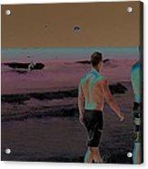 Beach Solar Series Xi Woman Swimming Usa Acrylic Print