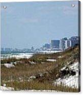 Beach To City Acrylic Print