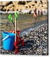 Beach Toys Acrylic Print by Luis Alvarenga